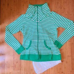 Columbia Sportswear striped zip up jacket